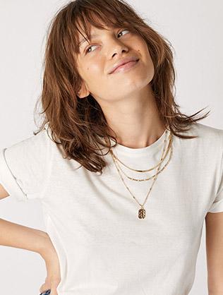 Pendant Multirow Necklace