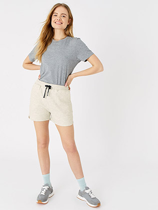 Stripe Print Jersey Shorts