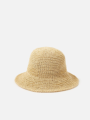 Sally Straw Bucket Hat