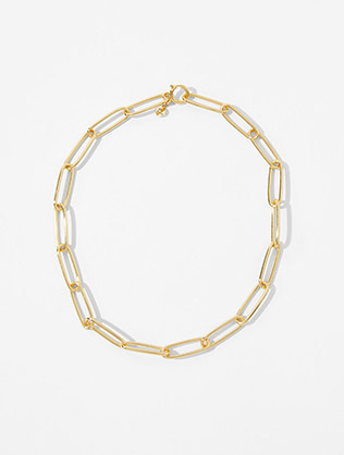 Gold Plated Long Link Chain