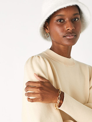 Simple Medium Chain Bracelet Gold